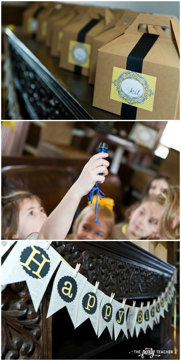 Nancy Drew Mystery Birthday Party by The Party Teacher - detective kits