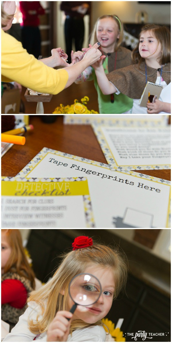 Nancy Drew Mystery Birthday Party by The Party Teacher - detectives