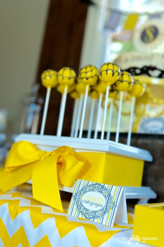 Nancy Drew Mystery Birthday Party by The Party Teacher - spider web cake pops