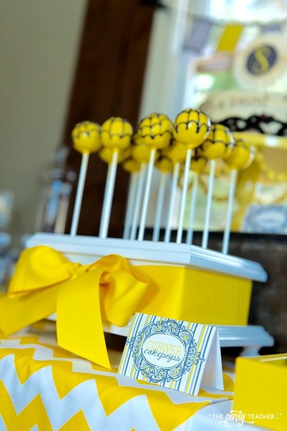 Nancy Drew Mystery Birthday Party by The Party Teacher - spider web cake pops