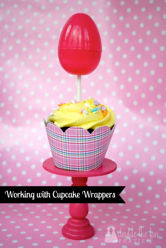 Working with cupcake wrappers by Double the Fun Parties