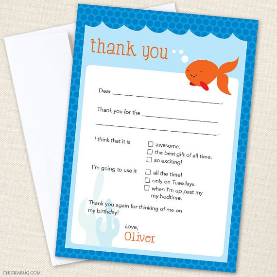 Chickabug thank you note