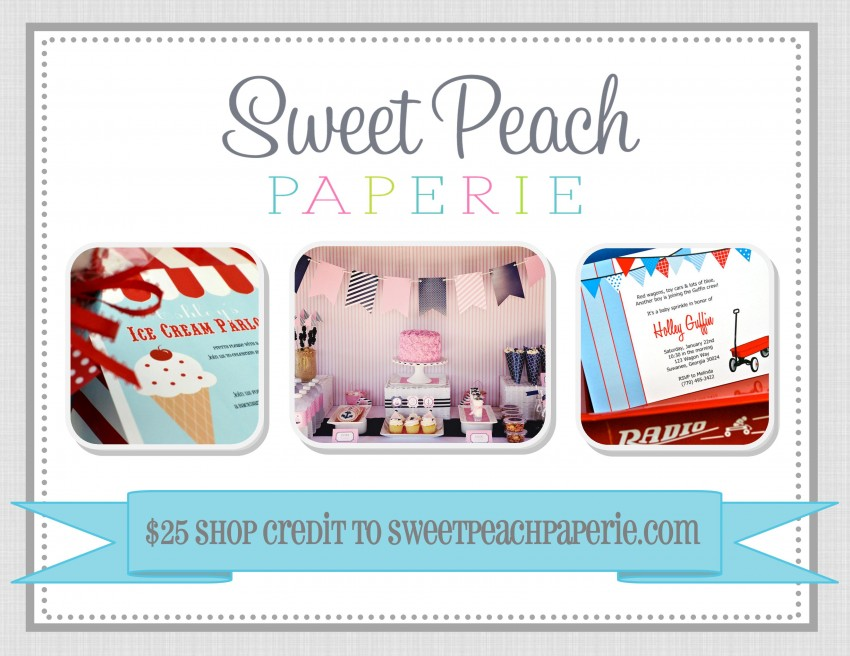 Giveaway Advertisement- Sweet Peach Paperie $25