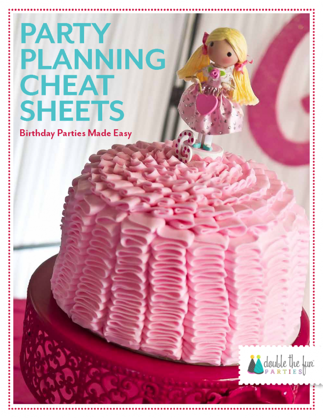 DFP Party Planning Cheat Sheets Cover