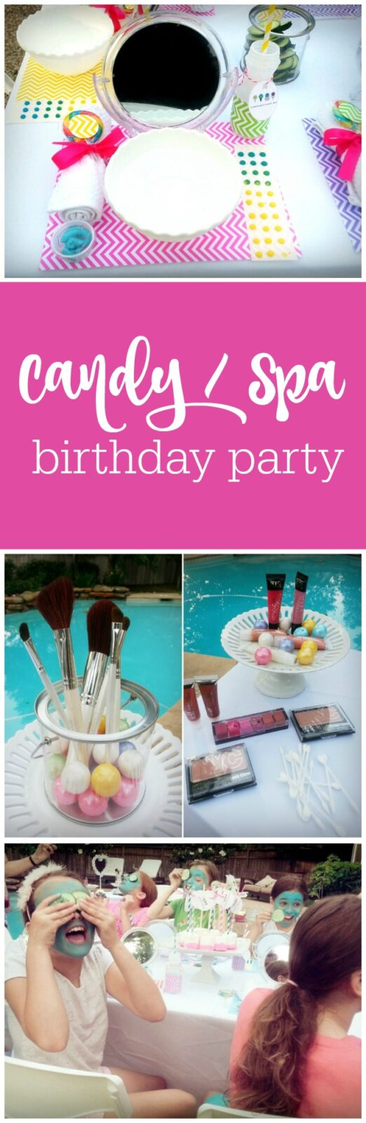 Dylan's Candy Bar Spa 10th birthday party by Glamour Avenue Parties featured on The Party Teacher