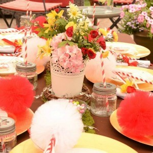 Guest Party: Red and Pink Woodland Flower Fairy Party
