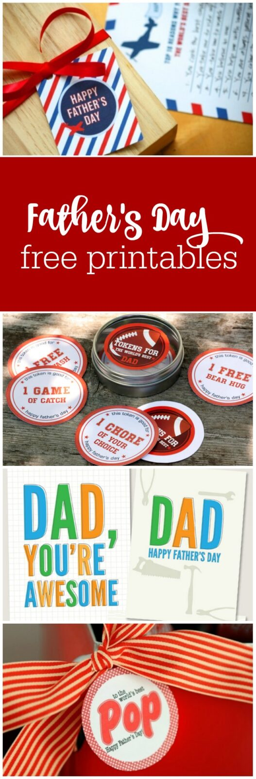 Free printables for Father's Day curated by The Party Teacher