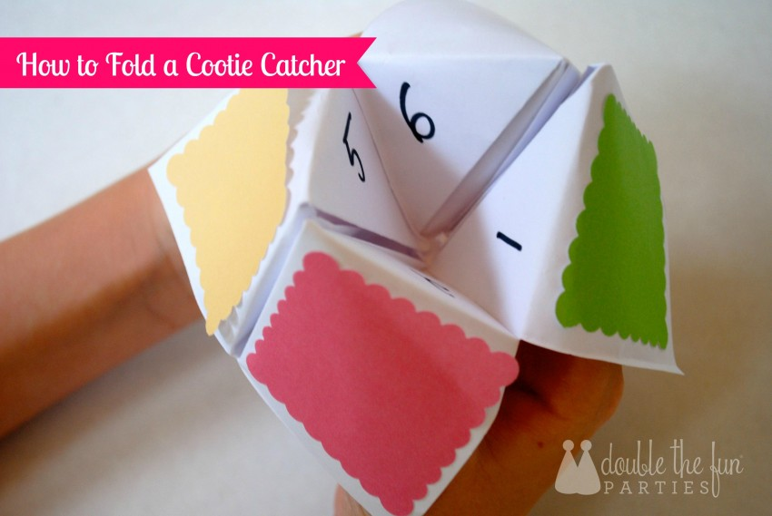 How to Fold a Cootie Catcher by Double the Fun Parties