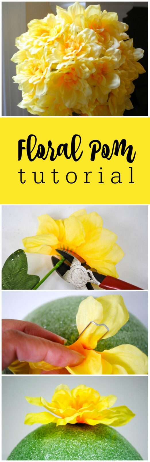 How to make a floral pom for less than wholesale by The Party Teacher