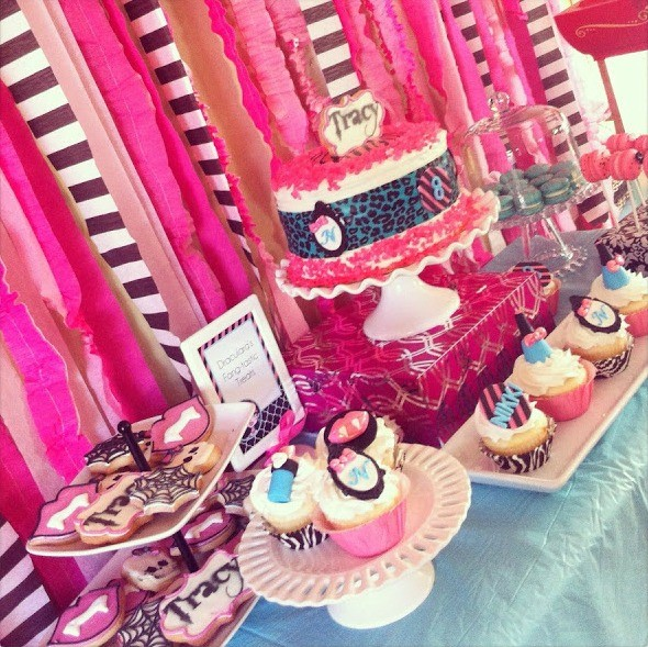 MH Spa Party Dessert Table