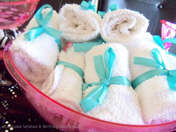 MH Spa Party wrapped face cloths