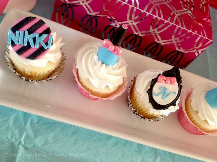 Monster High Spa Party Cupcakes