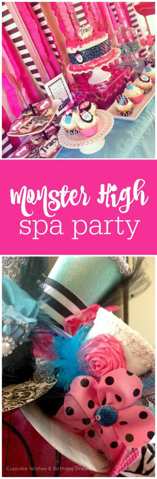 Monster High Spa Party by Cupcake Wishes and Birthday Dreams featured on The Party Teacher