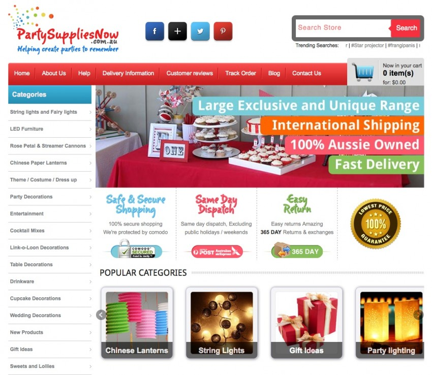 PSN home page
