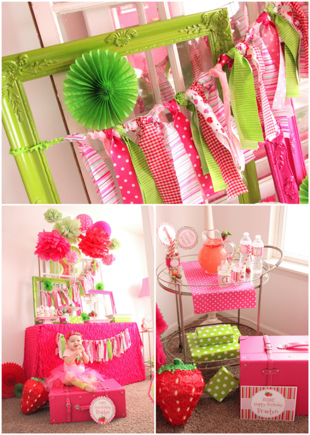 Strawberry party by Wonderfully Made Event