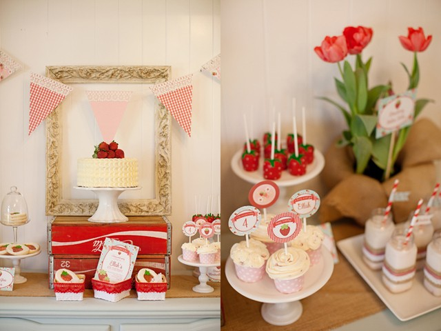 Strawberry party by Hello Love Designs