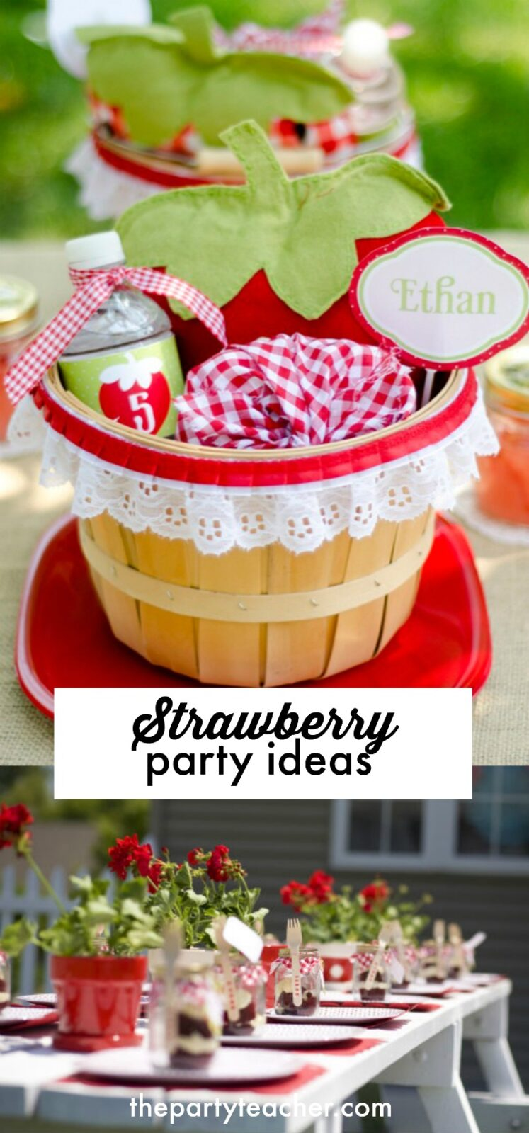 Strawberry party ideas curated by The Party Teacher