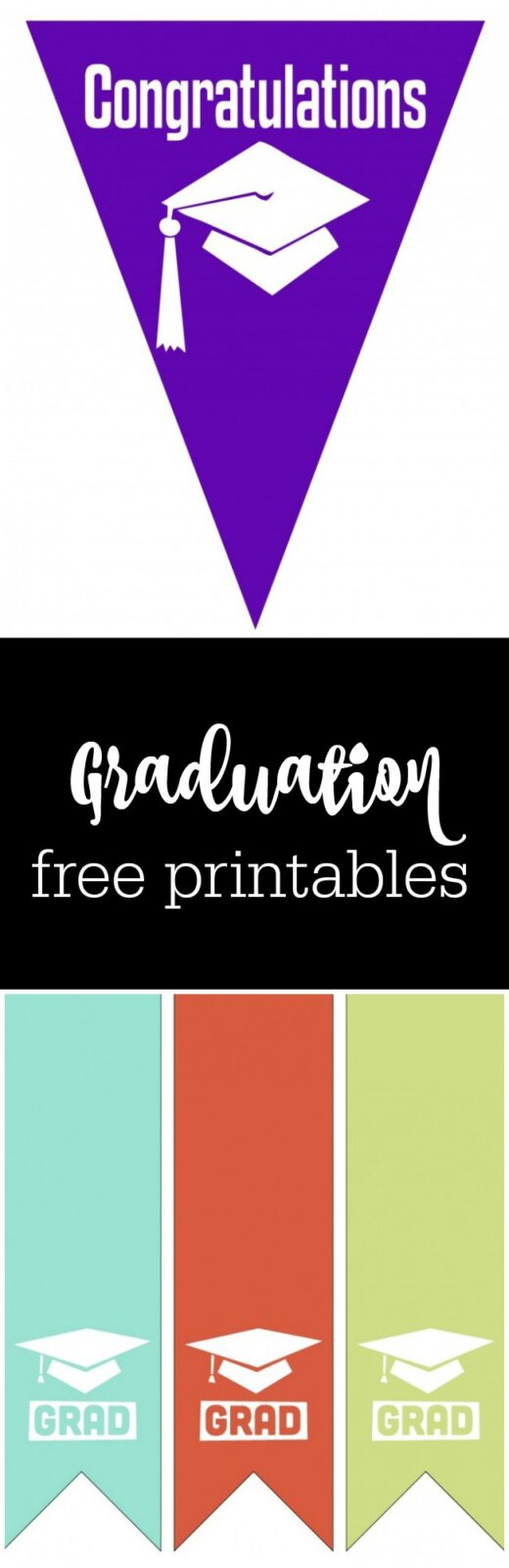 free graduation printables with cute options for kindergarten graduation curated by The Party Teacher