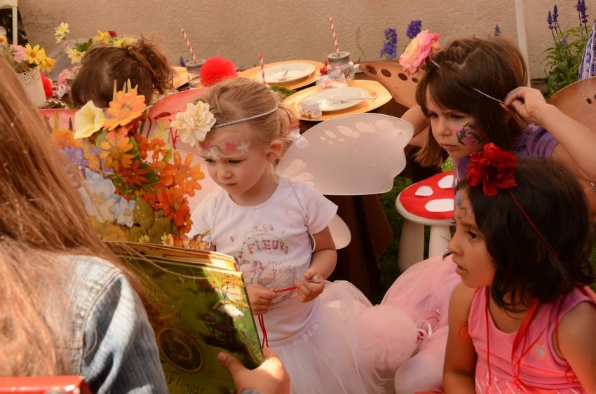 Woodland fairy birthday party by Ritzy Parties featured on The Party Teacher - reading fairy story