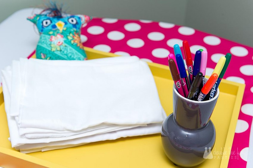 Decorate your own pillowcases with fabric markers - sleepover activity - The Party Teacher