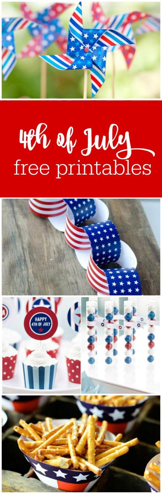 4th of July free printables curated by The Party Teacher