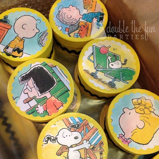 DFP Charlie Brown Thanksgiving Party Favor Boxes WM