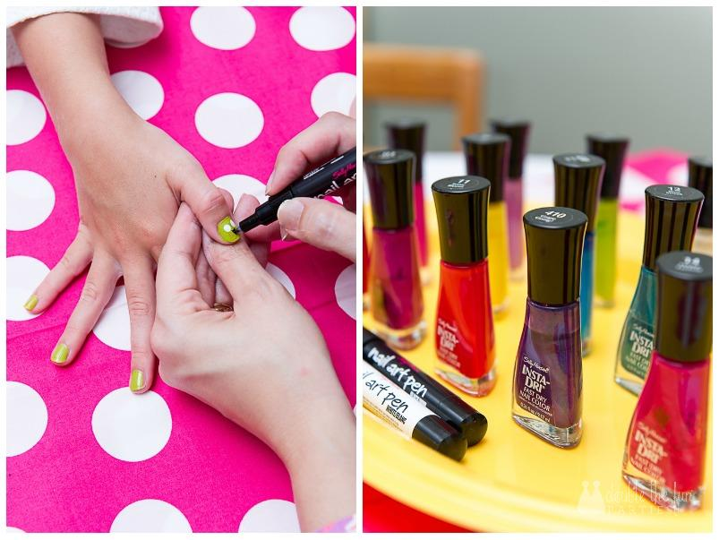 Night Owl Sleepover Party manicures - The Party Teacher