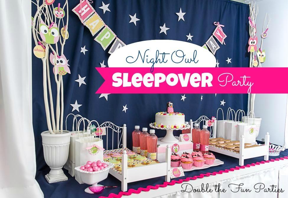 Night Owl Sleepover Birthday Party