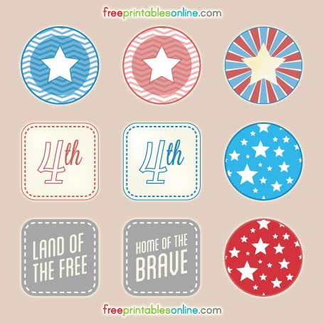 FF Free Printables Online July 4th