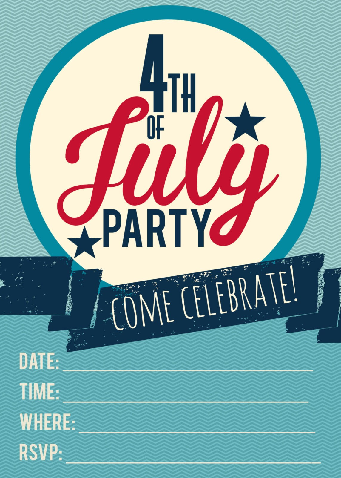 Free Printable 4Th Of July Invitations is awesome invitation design