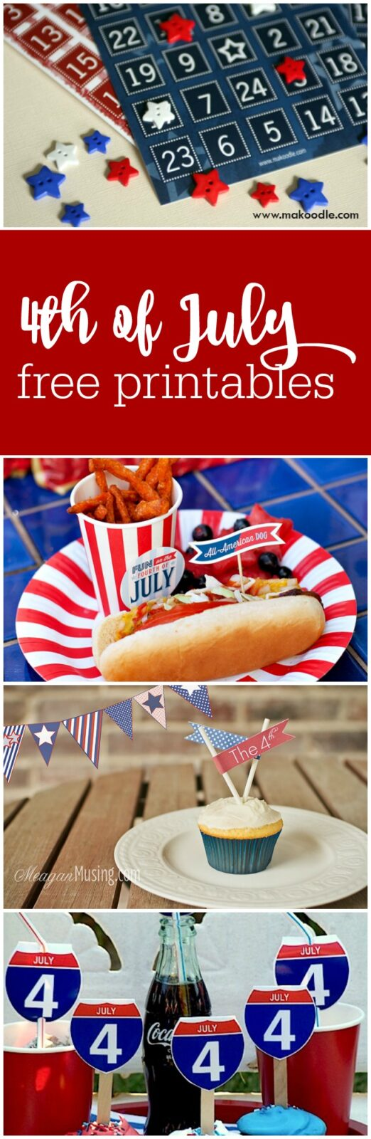 Free printables for the 4th of July curated by The Party Teacher
