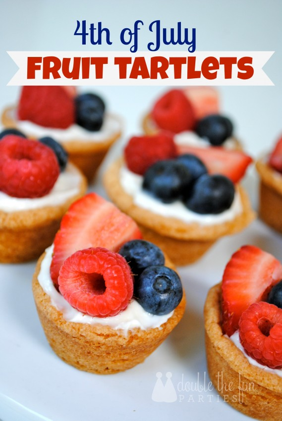 4th of July Fruit Tartlets by Double the Fun Parties
