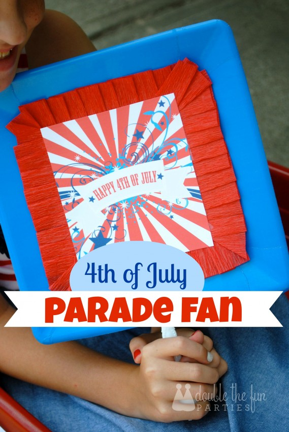 4th of July Parade Fan by Double the Fun Parties