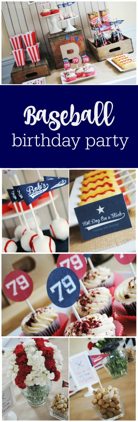 Baseball birthday party by Itsy Belle featured on The Party Teacher