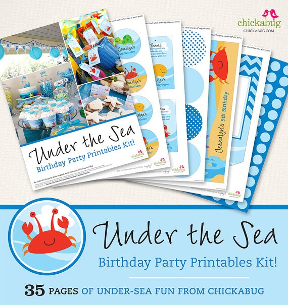 Chickabug Under the Sea Printables Collection