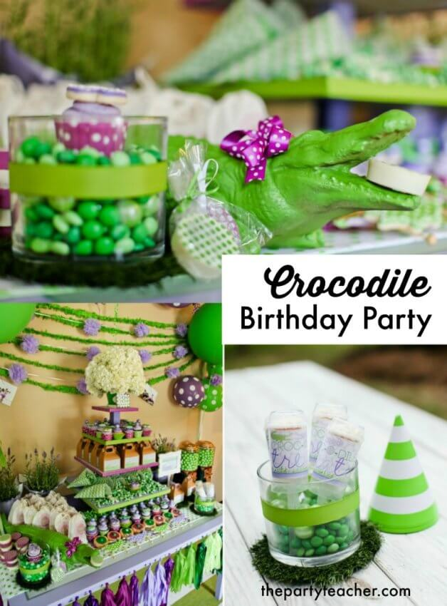 Darling crocodile birthday party by Party Box Designs featured on The Party Teacher