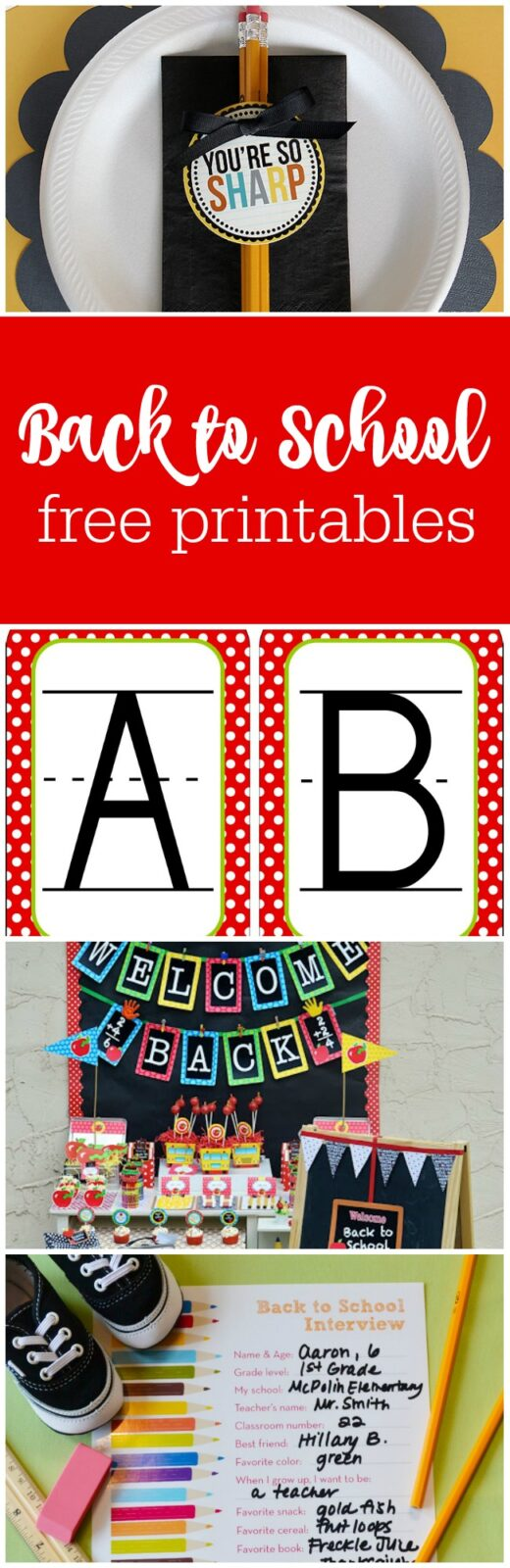 Free printables for back to school curated by The Party Teacher
