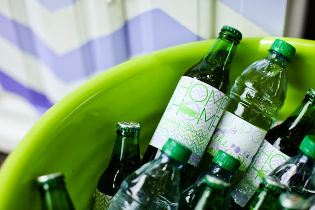 Crocodile birthday party by PBD featured on The Party Teacher - bottles