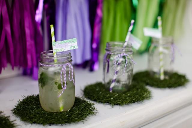 Crocodile birthday party by PBD featured on The Party Teacher - mason jars