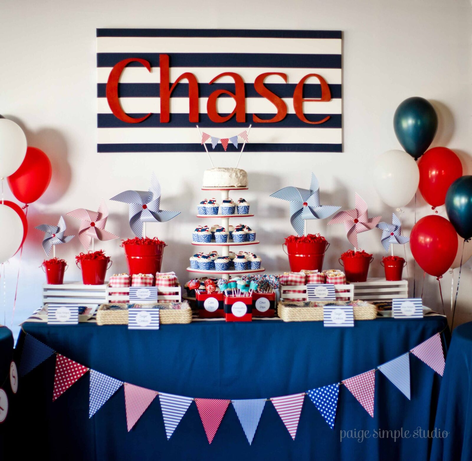 Guest Party: Boy's Nautical First Birthday Party