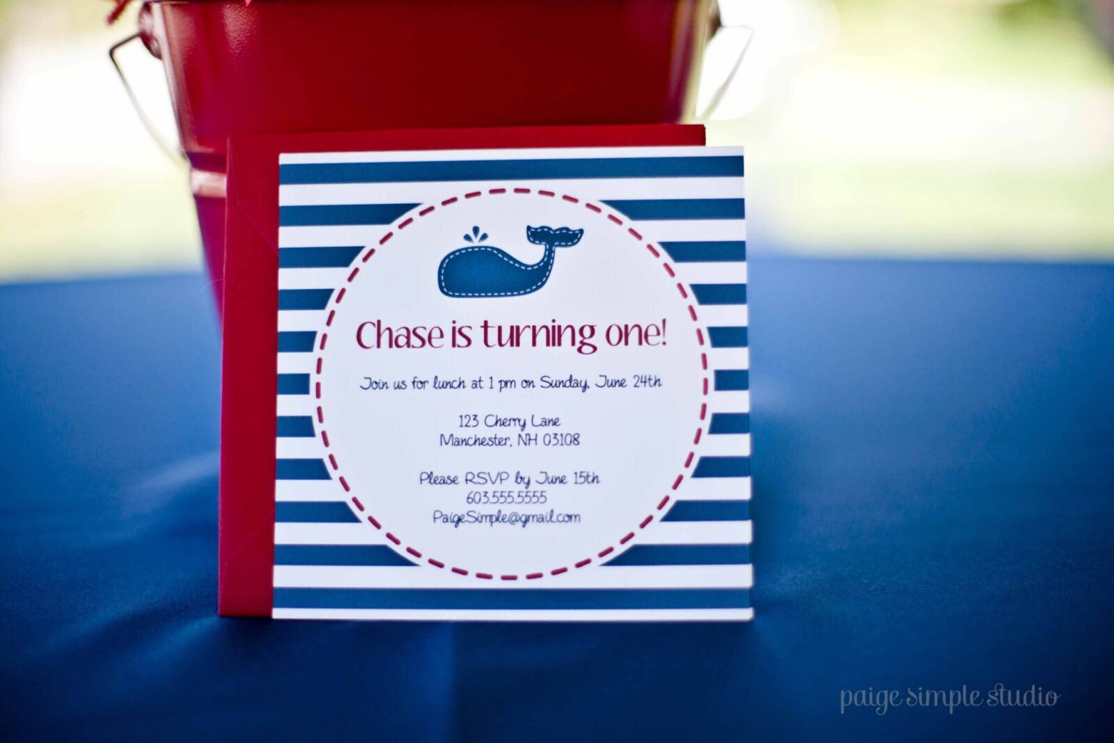 Guest Party Boys Nautical First Birthday Party