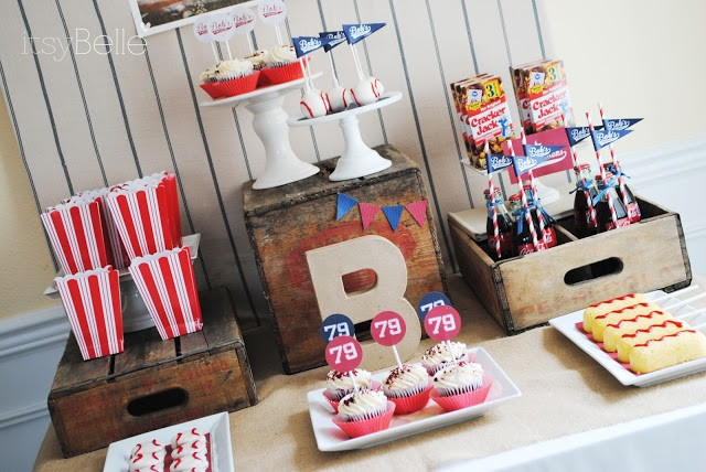 Vintage Baseball Party Dessert Table