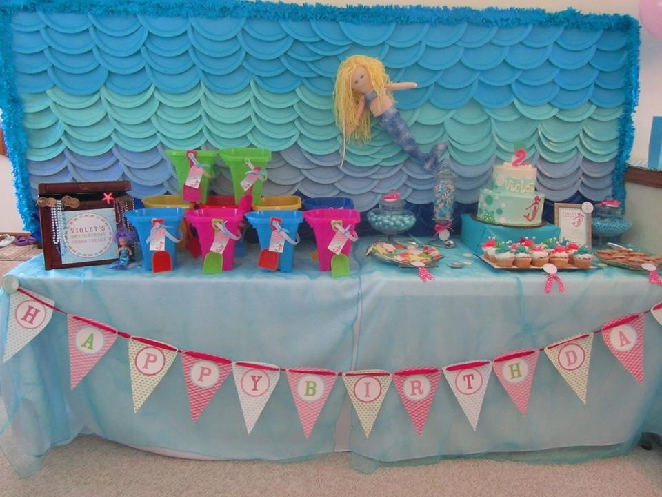 Angie says \u201cOur little mermaid loved her \u201cUnder the Sea\u201d themed birthday celebration! She spent most of her time splashing around in the wading pools we ... & Customer Party: Under the Sea 2nd Birthday Party