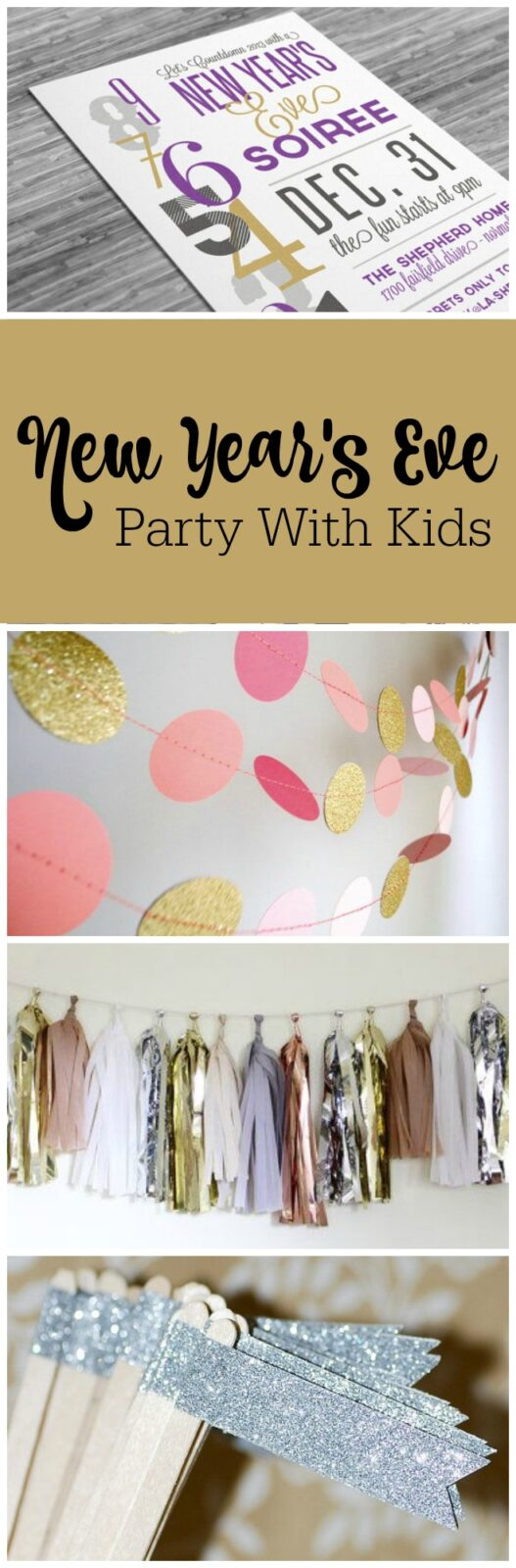 Ideas for hosting a New Year's Eve party with kids by The Party Teacher