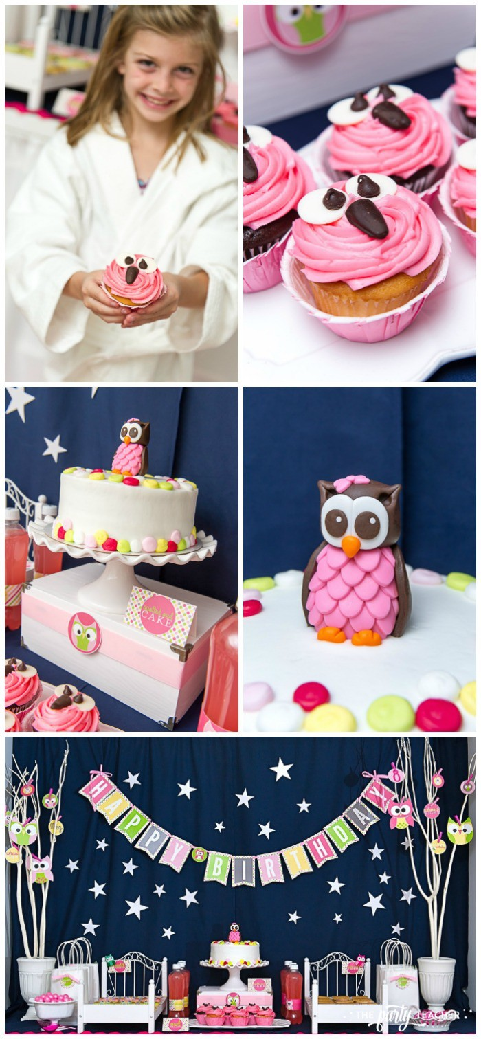 Night Owl Sleepover Party Desserts by The Party Teacher