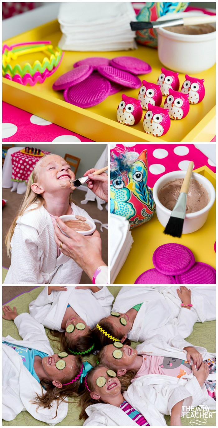 Night Owl Sleepover Spa Station Chocolate Face Masks by The Party Teacher