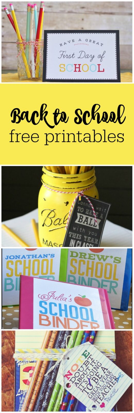 Super cute back to school free printables curated by The Party Teacher