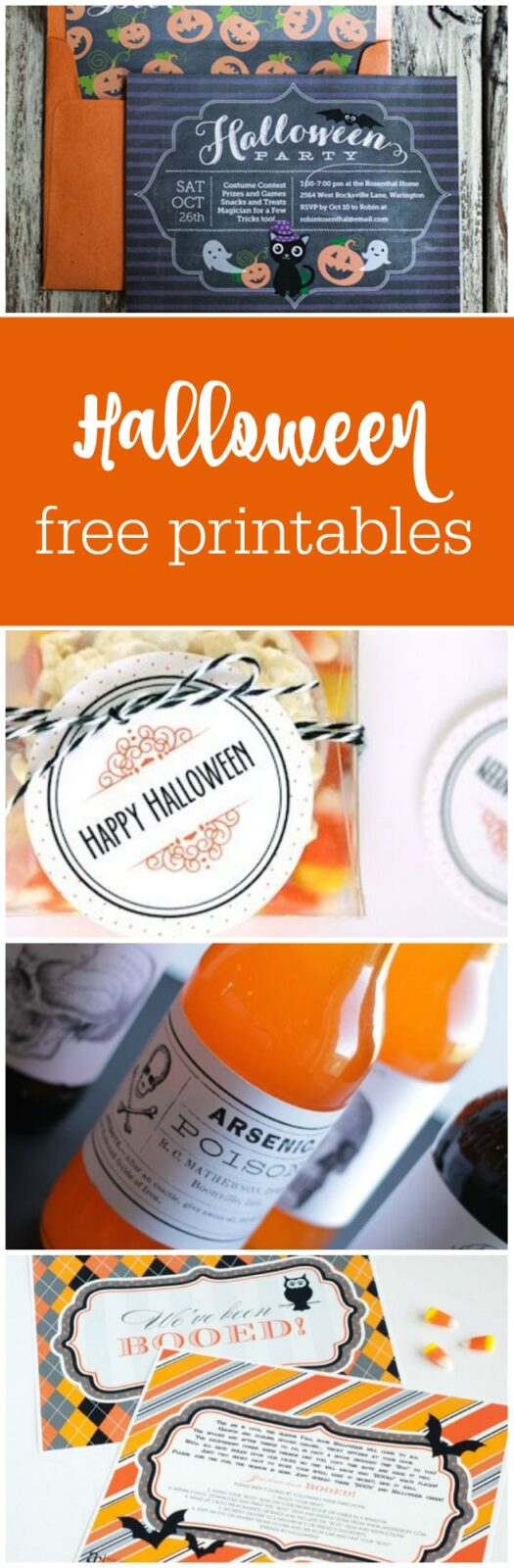 12 Halloween free printables curated by The Party Teacher