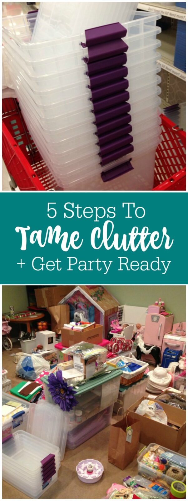 5 steps to tame clutter and get party ready by The Party Teacher