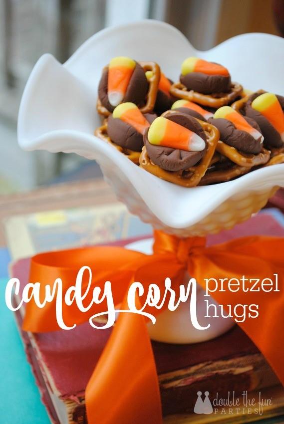 Candy Corn Pretzel Hugs by The Party Teacher